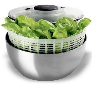 stainless steel salad spinner